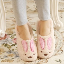 Cute Rabbit Winter Slippers Soft Plush Corduroy Couple Slippers Warm House Shoes Women Home Slippers Men Indoor Shoes Pantuflas