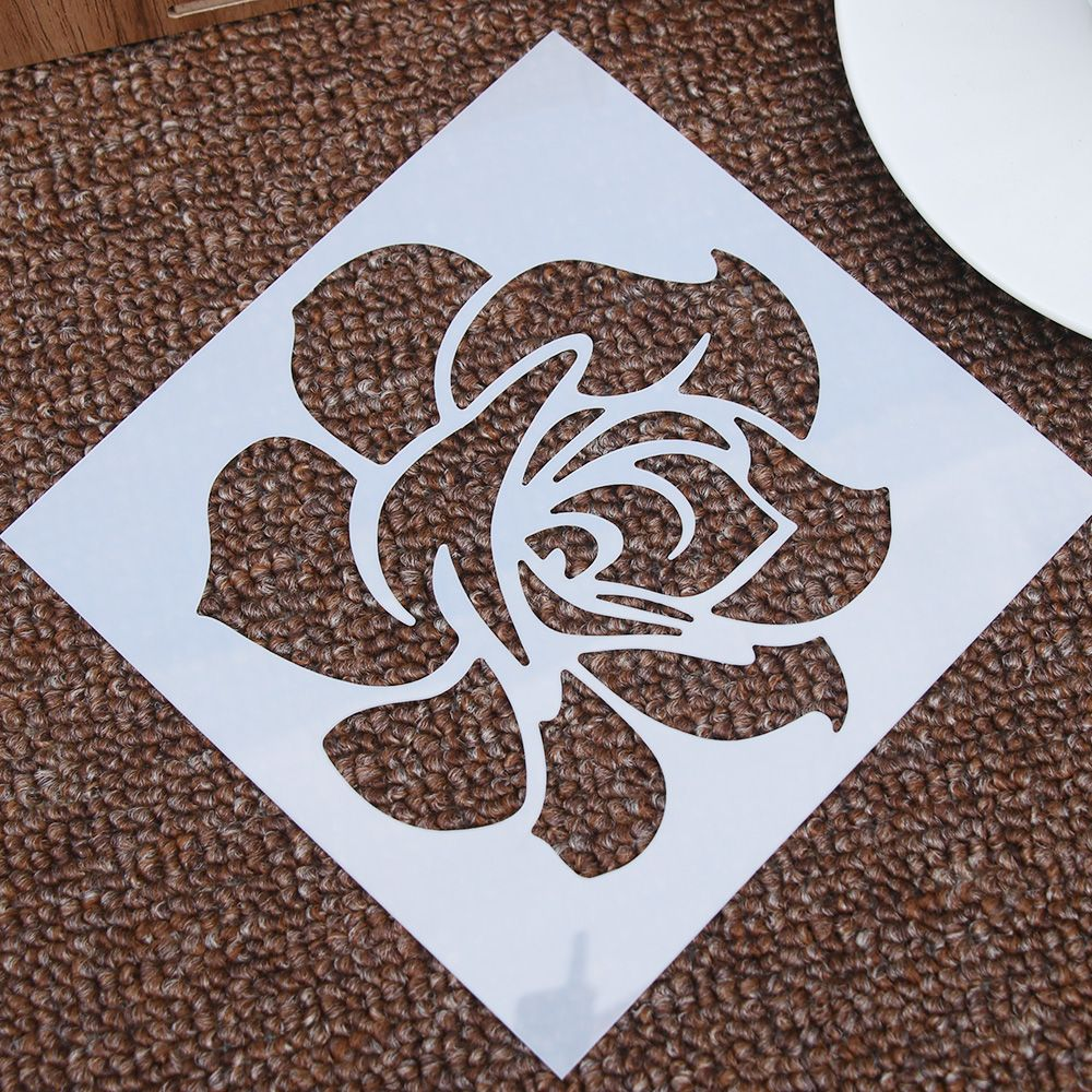 1PCS Classic Rose Flower Reusable Stencil Airbrush Painting Art Cake Spray Mold DIY Decoration Crafts