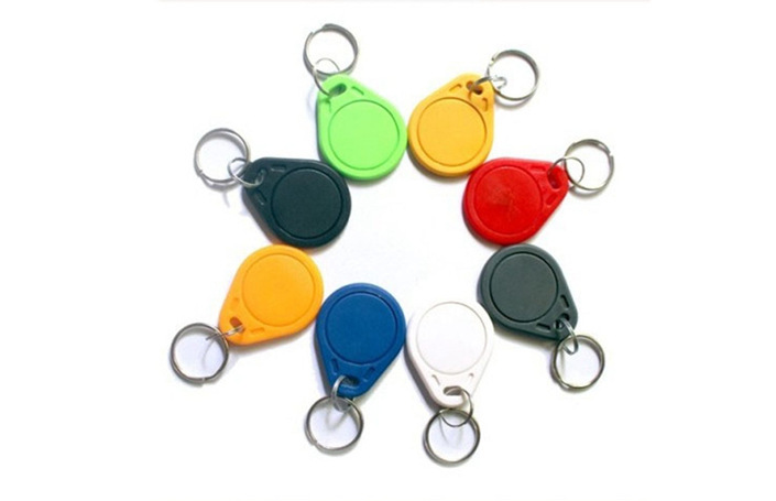 30pcs M1 S50  RFID Key Finder Card IC Keychain Card M1 Access Control Residential Property Card 13.56MHZ 14443A ABS Waterproof