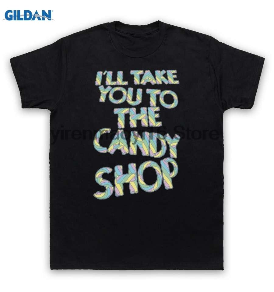 GILDAN 100% cotton O-neck printed T-shirt 50 Cent T Shirt Candy Shop for men