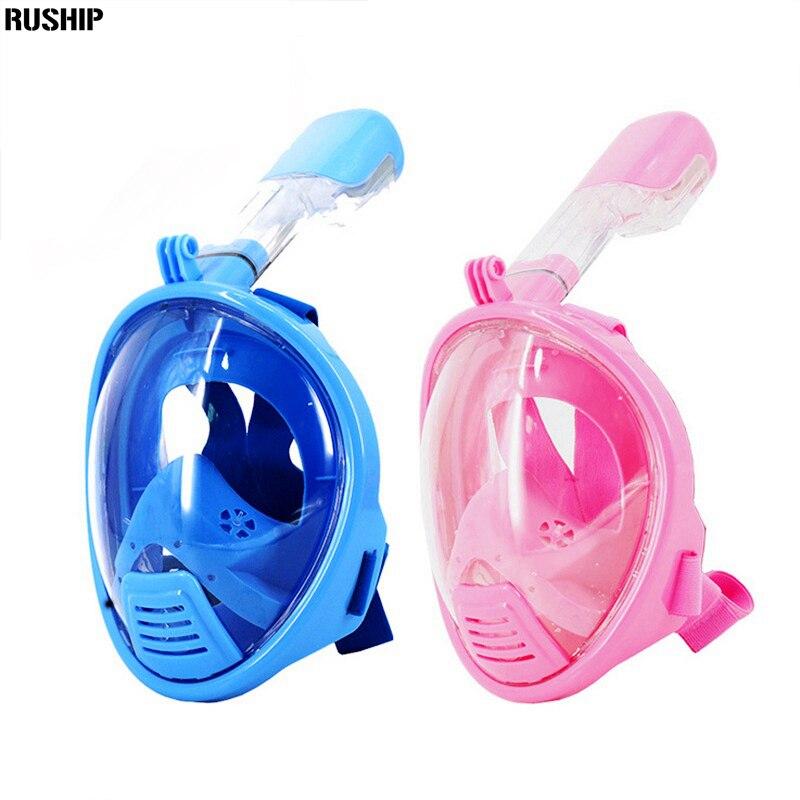 Masque de plongée Anti-buée pour enfants masque de plongée avec tuba 180 degrés Vision respiration libre équipement de plongée masque de plongée pour enfants