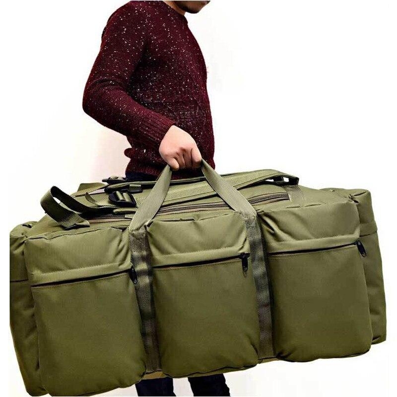 Sac à dos tactique militaire pour hommes de grande capacité 90L sac à bandoulière étanche pour bagages à main sac à bandoulière Oxford randonnée Camping sac de voyage