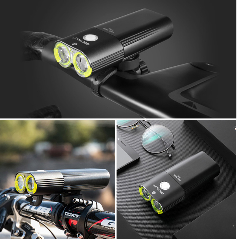 GACIRON 400 1800 LM Bicycle Light PRO Bike Headlight With taillight USB Power Bank IPX6 Flashlight MTB Road Bike LED Flash Lamp in Bicycle Light from Sports Entertainment