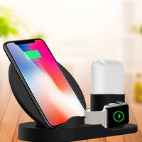 Fashion Wireless Charger Stand Cover For iPhone XS XR X 8 For Samsung Note 9 8 S8 S9 S7 S6 Fast Charger Phone Holder Accessories