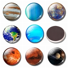 Eight Planets Refrigerator Magnets 30MM Magnet Fridge Glass Nebula Mercury Mars Jupiter Venus Uranus Neptune Saturn Ornaments