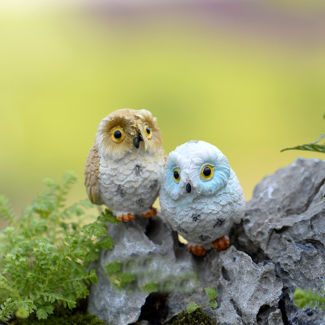 Mini Owl Garden Figurine