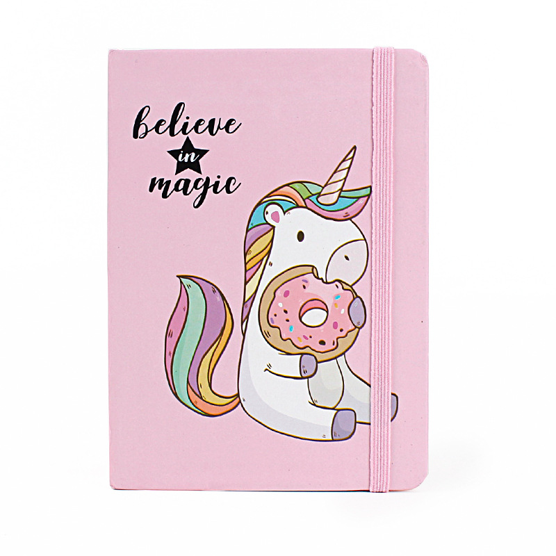 Creative Kawaii Unicorn Hardcover Notebook A5 96Sheets Diary Cute Notes Book For Kids Gift Korean Stationery School Supplies