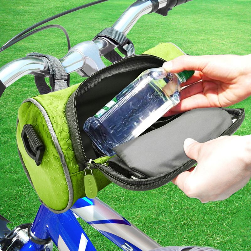 Waterproof Bicycle Pannier Touch Screen Bike Phone Bag Case Front Tube Handlebar bicycle touch screen tube bag bike cycling touch screen mobile phone bag pannier bag