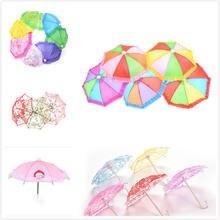 Один или 2 шт Стильный Мини зонтик дождевик для 18 дюймов Кукла