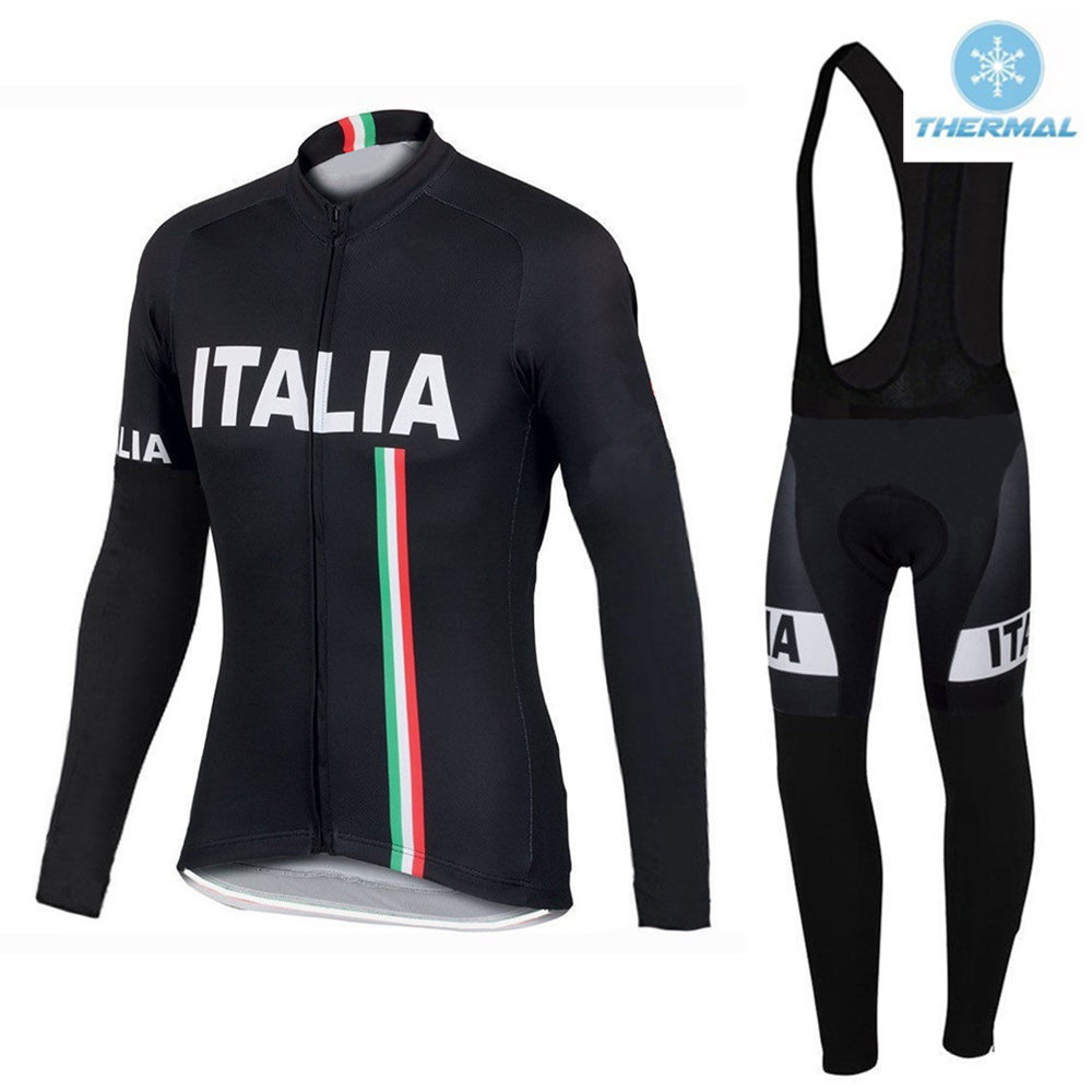 Black Pro Winter Cycling Clothing Sets Thermal Fleece Bicycle Jacket Cycling Jersey Keep warm Maillot Ciclismo invierno #DT-019 black thermal fleece cycling clothing winter fleece long adequate quality cycling jersey bicycle clothing cc5081