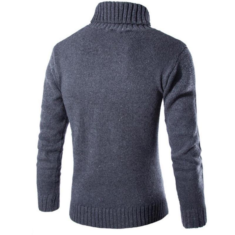 Covrlge 2017 Male Sweater Pullover Slim Warm Solid High Lapel Jacquard Hedging British Men's Clothing Mens Turtleneck Mzm030 #5