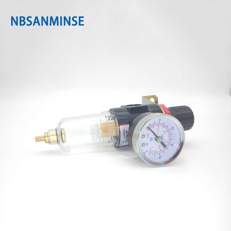0.5-9.0kgf //cm/² Ajustable BFC-2000 Filtro Separador de Agua de Aleaci/ón de Aluminio con Man/ómetro Filtro Regulador de Aceite para Aire comprimido Conector de PT1//4 Filtro para compresor de Aire