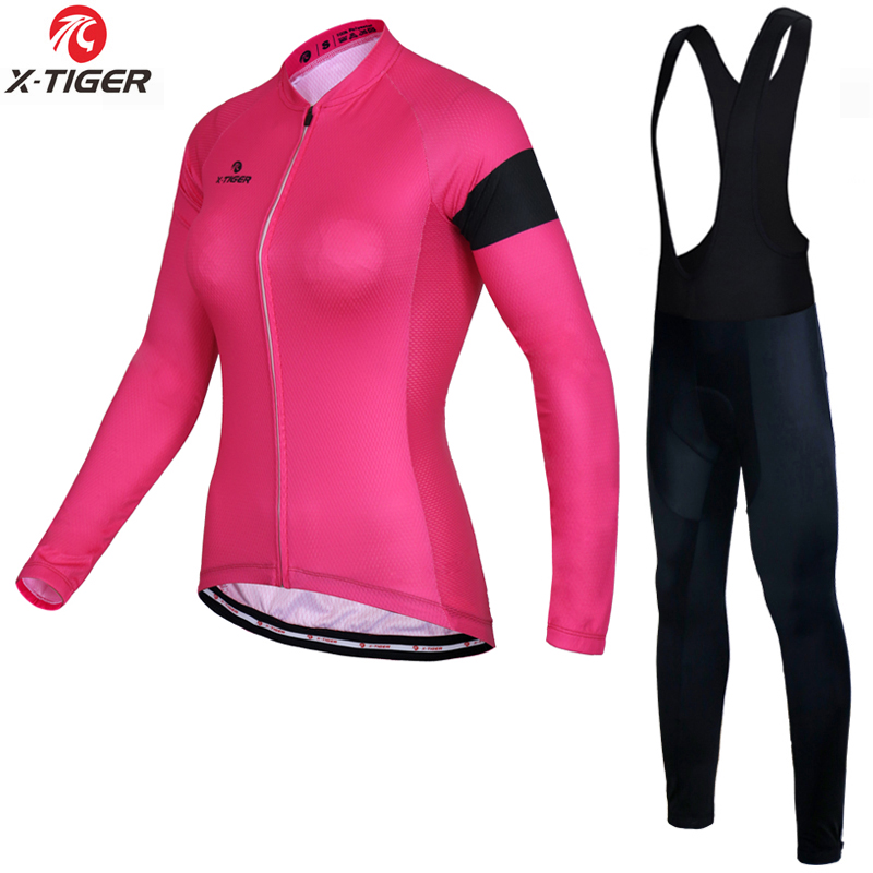 X Tiger 2019 Anti UV Autumn Cycling Clothing Suit 100 Polyester MTB Bicycle Clothes Long Sleeve