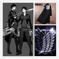 Free shipping hot Attack on titan Cosplay Costume anime uniform Recon Corps cloak coat