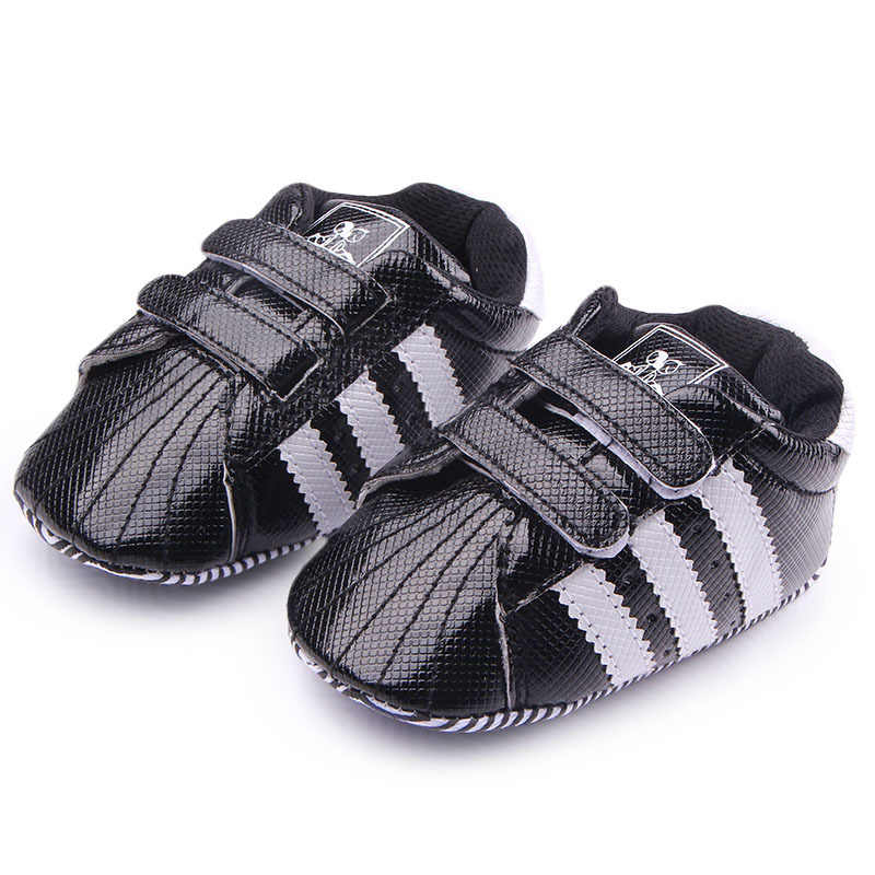 c1e913f2c47 ... 2018 New Baby Toddler Shoes Newborn Baby Boys Girls First Walkers  Stripe PVC Soft Bottom Shoes ...