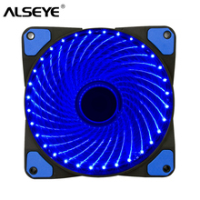 ALSEYE PC Computer Case Fan Cooler Cooling 32 LEDs 120mm fan Radiator Water Cooling 12CM Fan,12V DC 3in/4pin 1300RPM цена