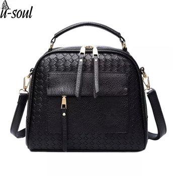 women bag knitting women handbag fashion weave shoulder bags small casual cross body messenger bag totes A594 Сумка
