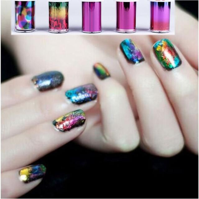 Professional Harajuku Laser Nail art Paper New 49 designs iridescent ...