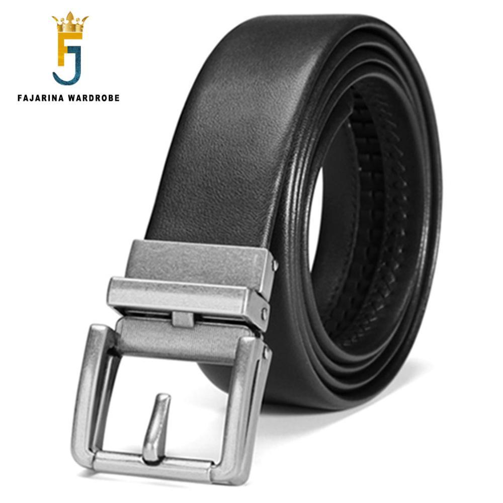 FAJARINA Brand Name Men's Quality Genuine Leather Unique Automatic Belts for Men Belts Cowhide Casual 3.5cm Width Belt ZDFJ185