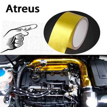 Atreus 50*5000mm Car styling Engine exhaust pipe insulation stickers for BMW e46 e39 e36 Audi a4 b6 a3 a6 c5 Renault duster Lada image