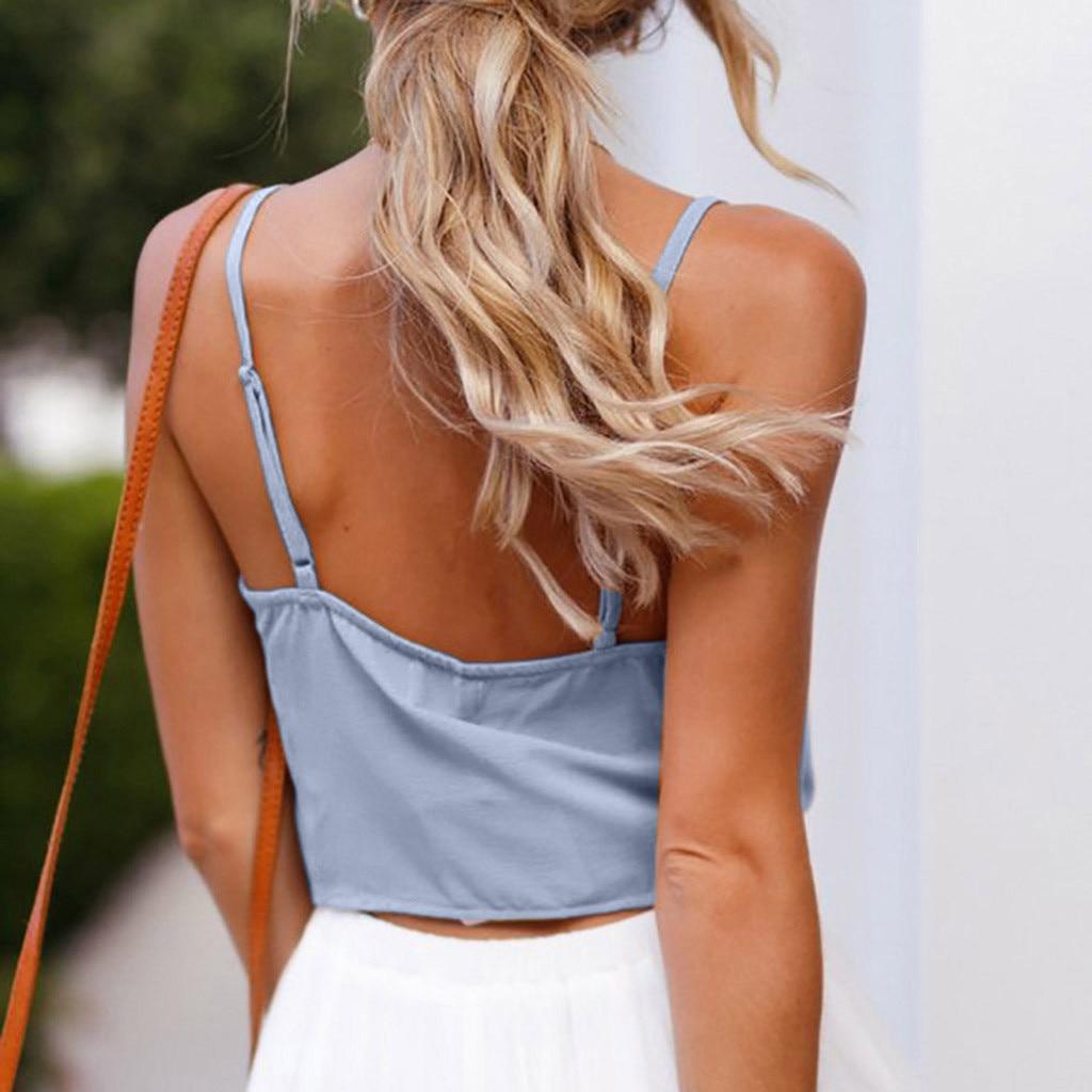 Women's Summer Casual Solid Sleeveless Design  Shirt Tank Top Blouse debardeur femme cropped women clothes 2020 topic summer top