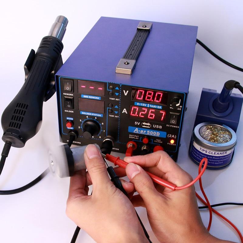home improvement : JCD 60W 220V 110V soldering iron EU US UK PLUG adjustable temperature welding solder iron kit with soldering tips 908 hot sale