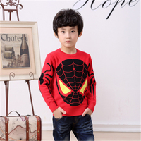 Classic Spiderman Pullover Sweater Boys Cotton Cardigan Halloween Wear Clothes Hero Baby Best Kids All Match 2 Colors 90 155cm