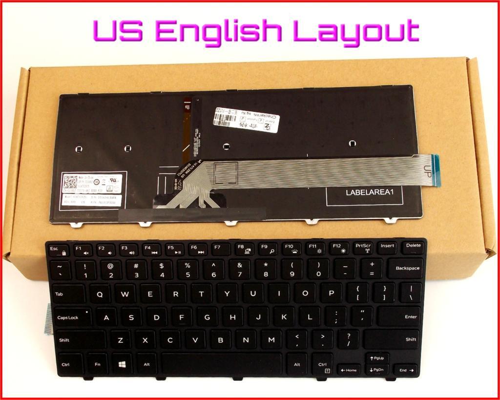 New Laptop US Keyboard for Dell Latitude 3450 Frame W//Backlit