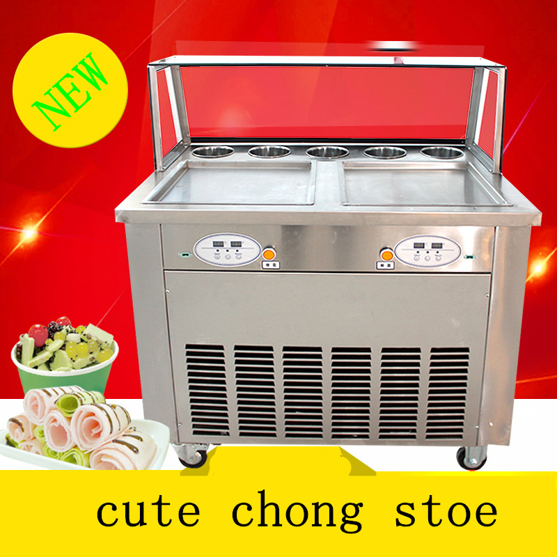 New arrival brand compressor  Fry ice pan machine,fried ice cream roll machine,ice pan ice cream machine without cover  цены