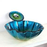Европейский ретро стиль художественный стеклянный счетчик умывальник ручной работы керамический контейнер для ванной комнаты раковина ум