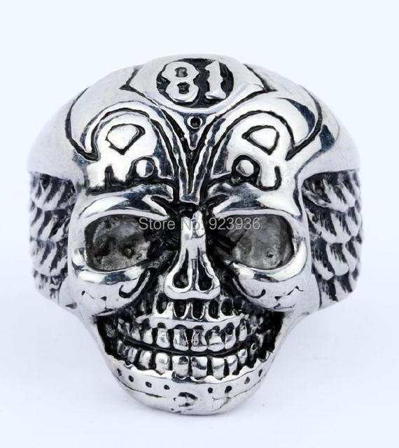 US $6 99 |New Arrival Support 81 Skull Biker Gothic Biker Ring 316L  Stainless Steel Ring Jewelry-in Rings from Jewelry & Accessories on  Aliexpress com