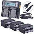 3 шт.  7200 мАч  NP-F970 NP F970  аккумулятор с дисплеем питания + 1 Ультра быстрое 3X быстрое двойное зарядное устройство для SONY F930 F950 F770 F570 CCD-RV100