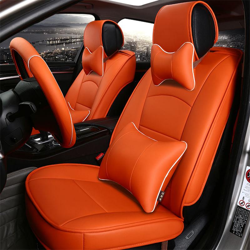 leather car seat cover for vw cc bora polo beetle sportsvan variant alltrack cross golf gti r. Black Bedroom Furniture Sets. Home Design Ideas