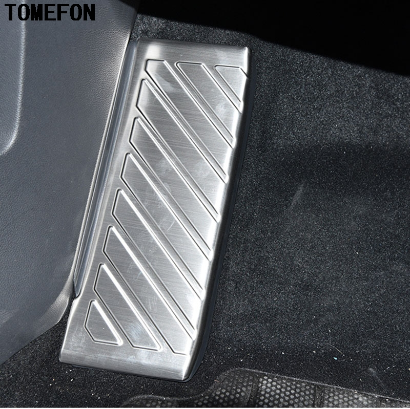 For Volkswagen VW Tiguan Second Generation 2017 2018 Stainless Steel Interior Foot Rest Pedal Protector Cover Trim Accessoires