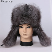 H3 H F F020 Fox Fur Hat Fur Hat Sheepskin Lei Feng Cap Fur Hat