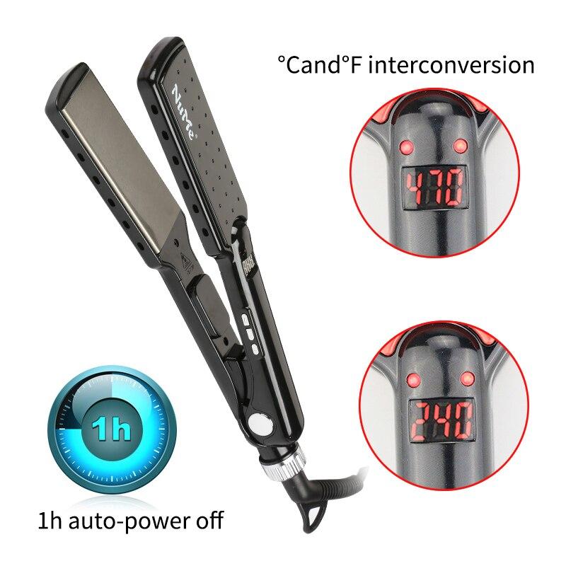 Professional Hair Straightener Titanium Alloy Straightening iron MCH Heater 2 Inch Flat Iron Salon Styling Tools цена
