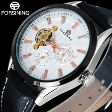 НОВЫЙ relogio masculino 2016 FORSINING Простой мужчины часы моды автоматическая Механическая tourbillion календарь дисплей недели A825