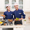 High quality  hotel restaurant long sleeve cotton design colorfast and shrink resistant yellow  french chef uniform cook