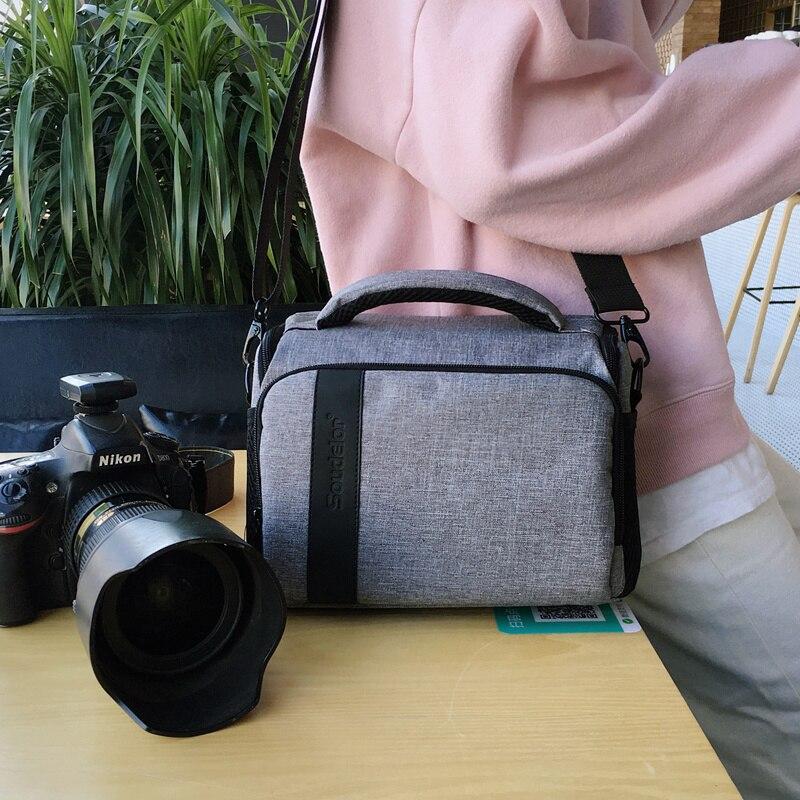 Impermeable Cámara DSLR Hombro Bolsa para Nikon D7100 D800E D3300 D5300 D610