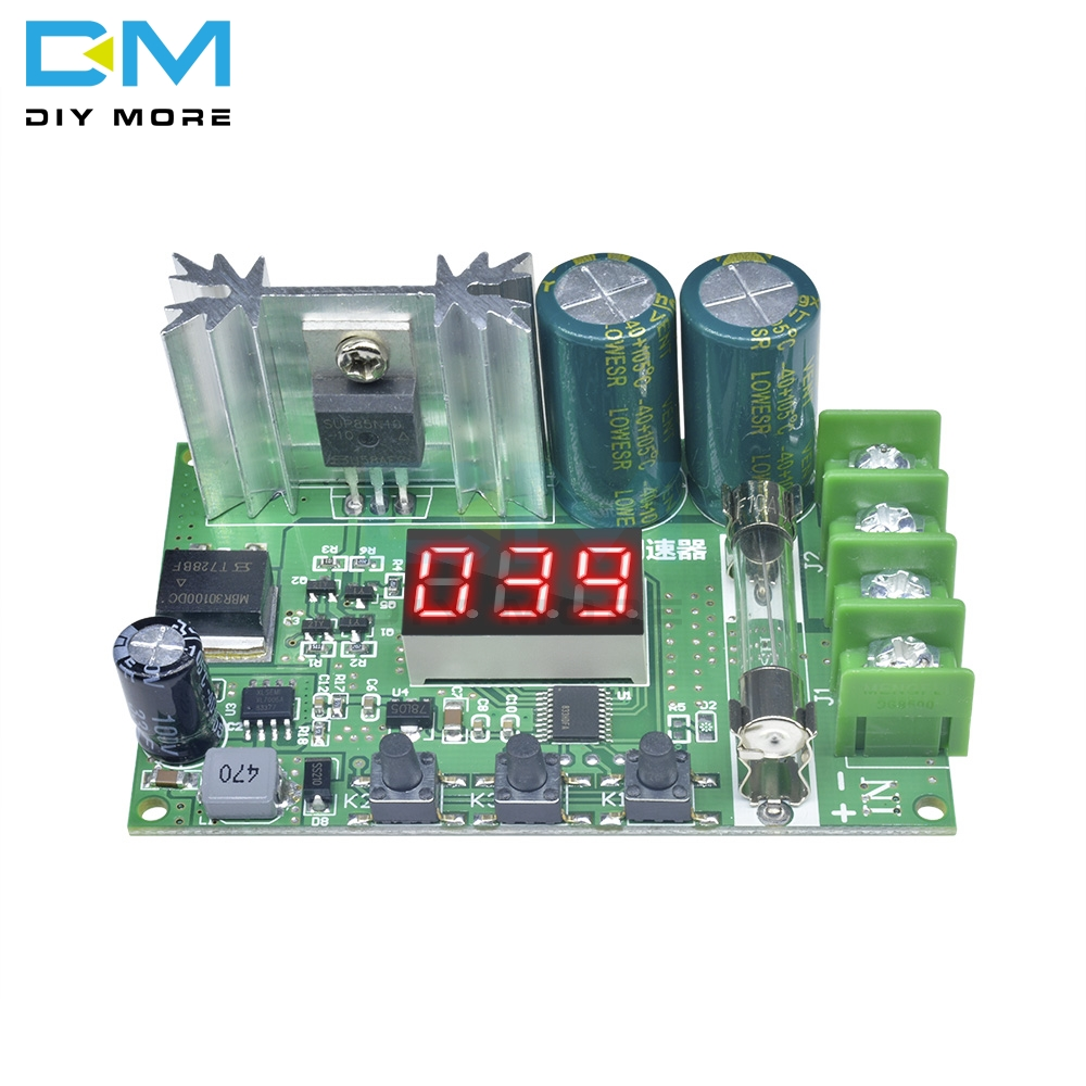 DC 12-60V 10A 600W Motor Speed Controller Digital Display Red PWM Speed Regulator Module Pulse Width Adjustable Control Governor image