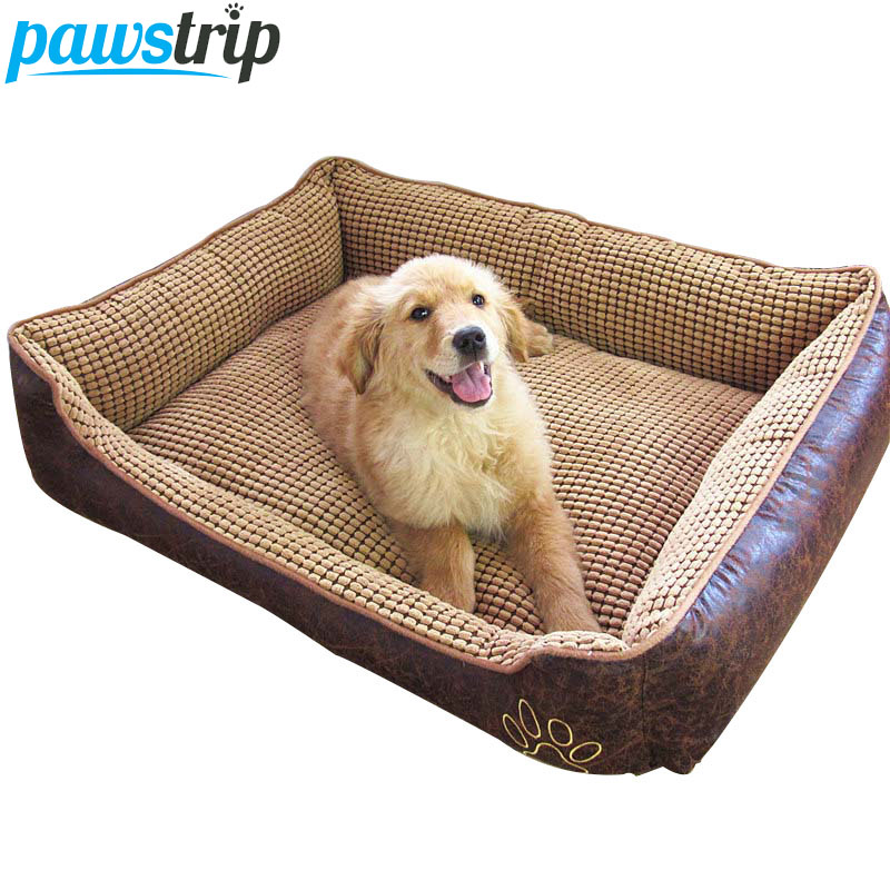 Waterproof Leather Dog Bed Washable PP Cotton Padded Pet Puppy Cushion For Large DogsWaterproof Leather Dog Bed Washable PP Cotton Padded Pet Puppy Cushion For Large Dogs
