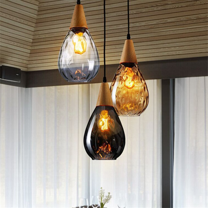 American country pendant lamp solid wood loft crystal glass creative restaurant light bar simple perfume bottle hanging light цены