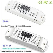 DC12V-24V/DC12V-48V PWM DMX512 Single color Controller CC/CV LED Decoder 1 channels output Dimmer drive For Lamp led light