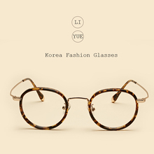 LIYUE Round vintage eyeglasses Spectacles frame Anti Fatigue Radiation glasses Anti blu-ray glasses frame computer clear glasses