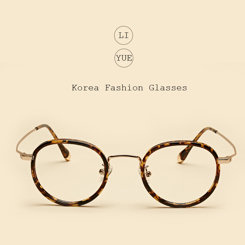 LIYUE Round vintage eyeglasses Brillengestell Anti Fatigue Radiation Brillen Anti Blu-ray Brillengestell Computer Clear Brillen