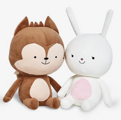1pc 20cm Descendants of the Sun Plush Toy, Fox Plush And Rabbit Plush Toy, Fox And Rabbit Stuffed Animal doll For Girlfriend stuffed animal 120 cm cute love rabbit plush toy pink or purple floral love rabbit soft doll gift w2226