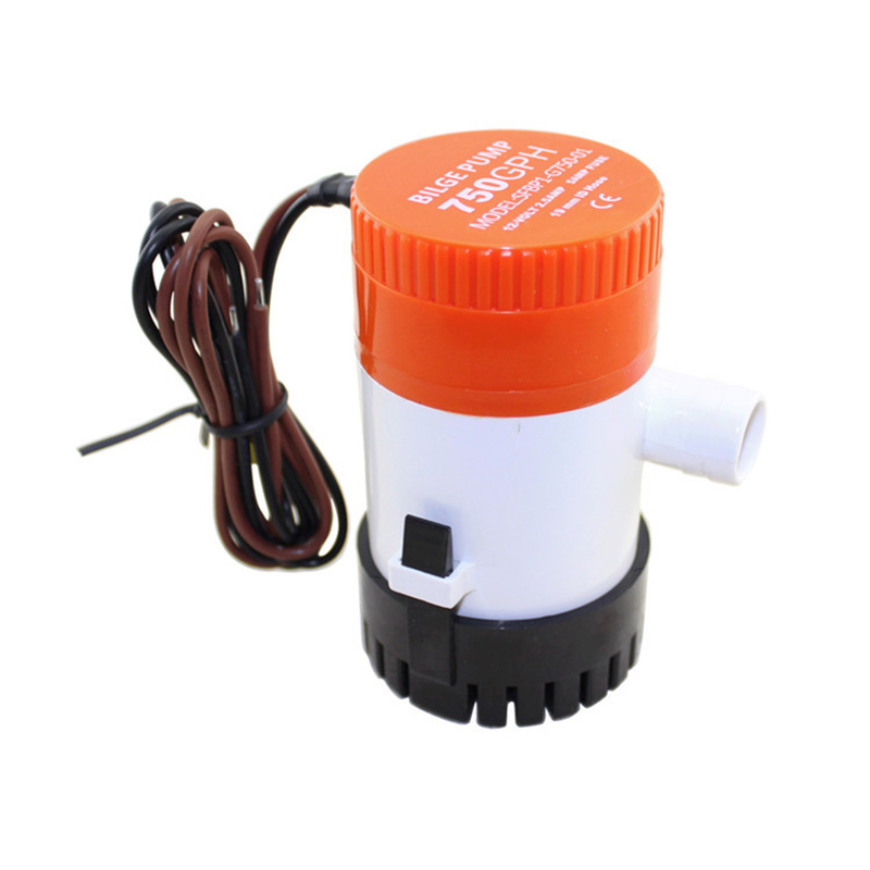 750 GPH Non Automatic Bilge Pump 12V DC Marine Boat Submersible Pump Drain Pump-in Marine Pump from Automobiles & Motorcycles