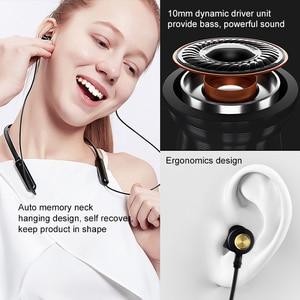 Image 2 - NILLKIN écouteurs Bluetooth sans fil, casque découte avec bandeau pour le cou, casque magnétique en métal, écouteurs, jeu de course, 5.0