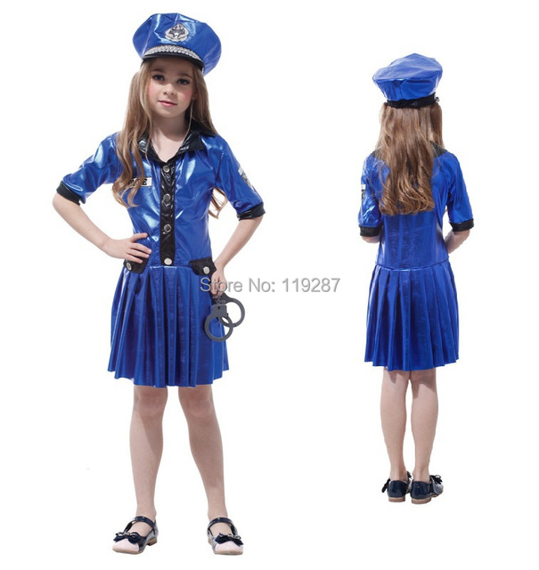 Kids Police Costume Policewoman Costume For Girls Fantasia Infantil Halloween Fancy Costume For Girls Performance Children  sc 1 st  AliExpress.com & Kids Police Costume Policewoman Costume For Girls Fantasia Infantil ...