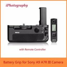 Meike MK-A9PRO Vertical-shooting Battery Grip for Sony A9 A7R III A7 III A7M3 Camera w/ 2.4GHz Remote Controller